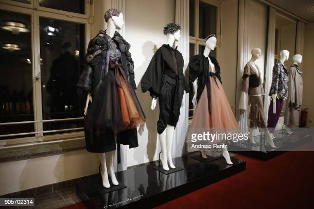 Displays at the Vogue Salon during 'Der Berliner Salon' AW 18/19 at Kronprinzenpalais on January 16 2018 in Berlin Germany