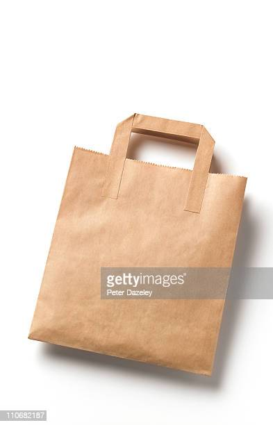 Disposable brown paper bag with cope space