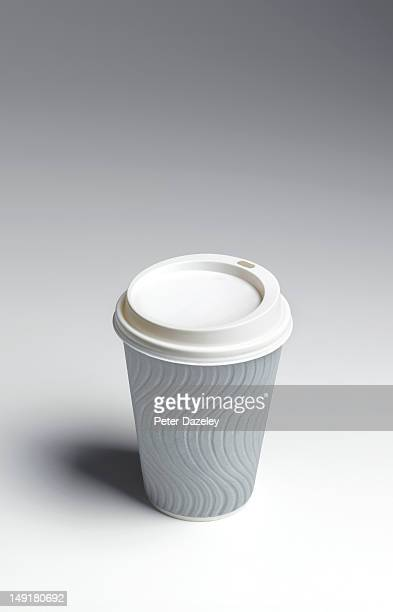 Disposable coffee cup with copy space