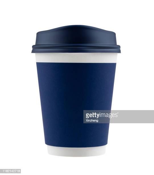 disposable coffee cups / tea cups / paper cup - tasse oder becher stock-fotos und bilder