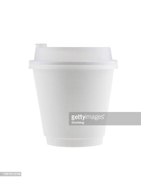 disposable coffee cups / tea cups / paper cup - 蓋 ストックフォトと画像