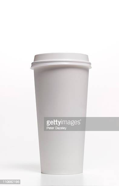 Disposable coffee/tea cup with copy space