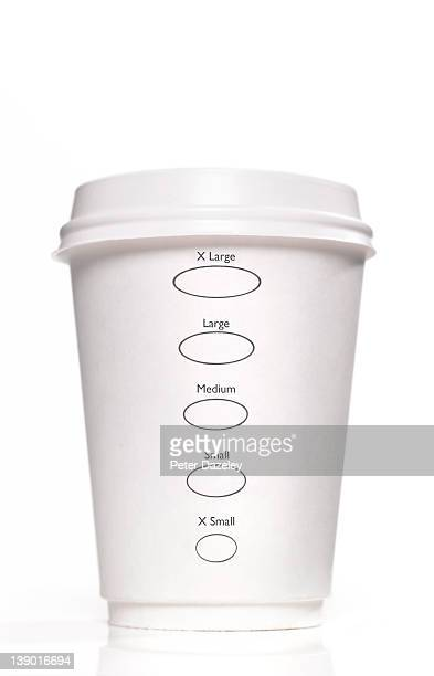 Disposable cup with portion size options
