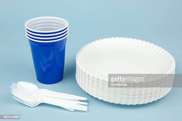 disposable dishware - paper plate stock photos and pictures