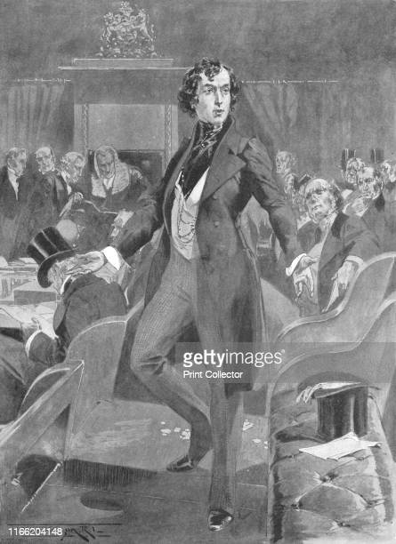 Disraeli's First Speech in the House of Commons', London, 7 December 1837,. British Conservative statesman Benjamin Disraeli was elected Tory MP for...