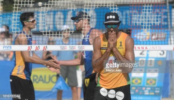 Dissapoited Predo Solberg Salgado of Brazil during match im the men's round of 16 between Predo Solberg Salgado of Brazil and Bruno Oscar Schmidt of...