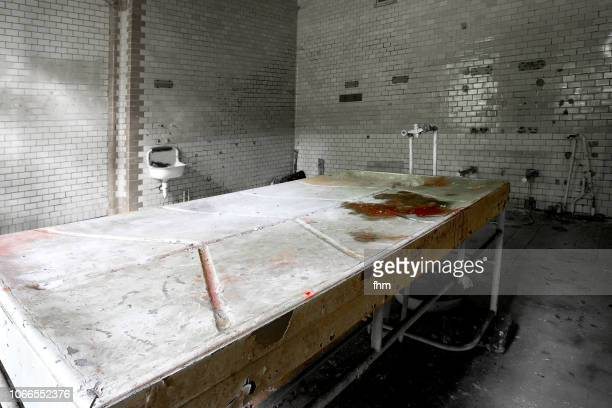 Dissection table in an abandoned hospital