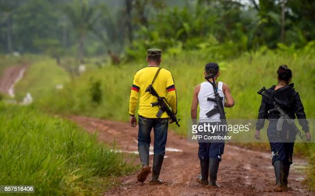 Dissident guerrilla leader who goes by the name Aldemar , member of the First Front of the Revolutionary Armed Forces of Colombia , and other rebels,...