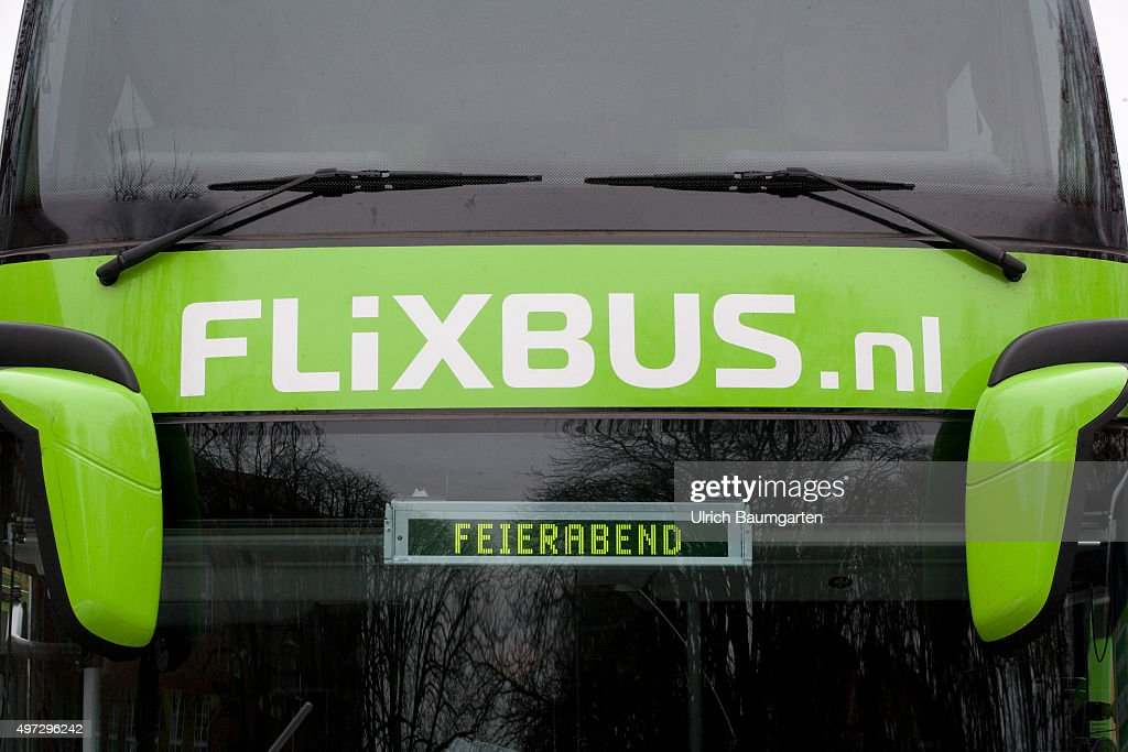 Flixbus with the display Feierabend. : News Photo
