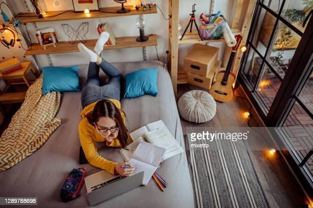 enseignement à distance de la maison par vidéoconférence téléphonique - serbie photos et images de collection