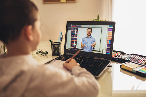 Distance learning online education. 1218986316