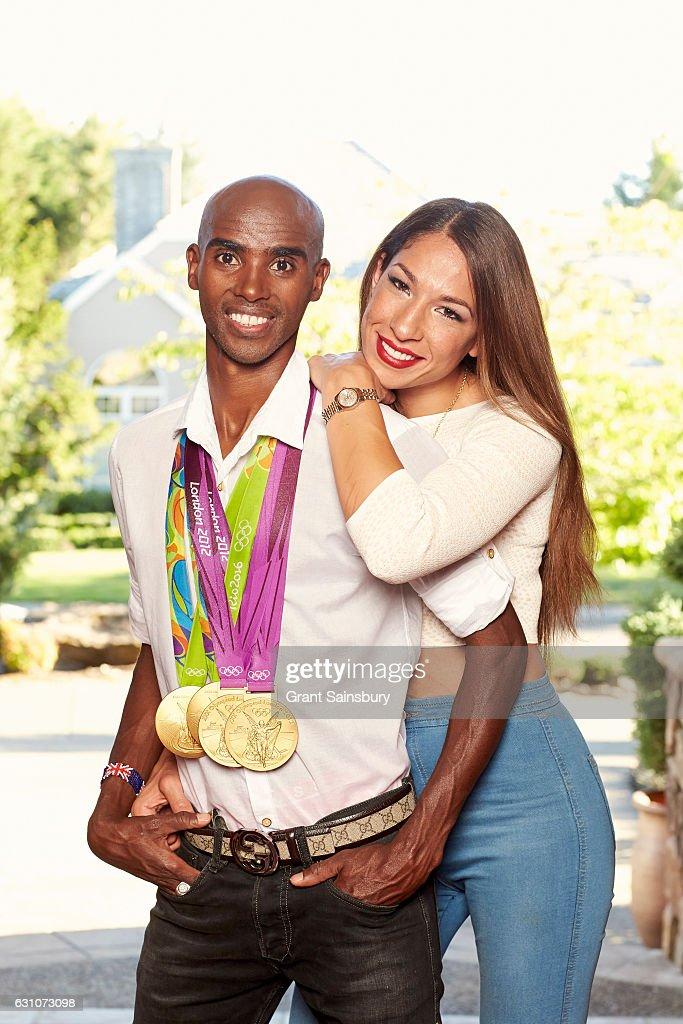 Distance runner Mo Farah is photographed at his home with family for Hello magazine on August 25, 2016 in Portland, Oregon.
