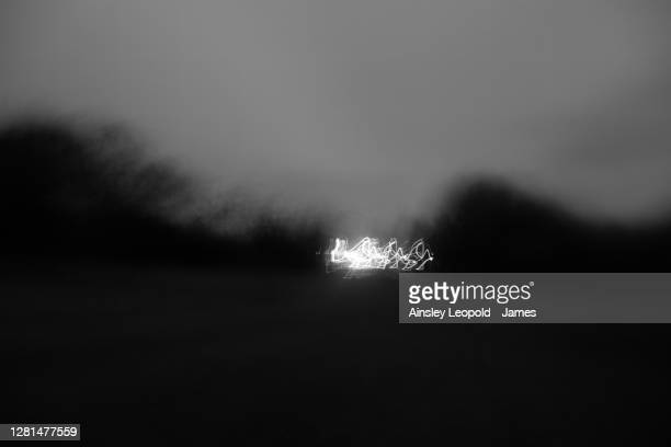 distance speaks only in time, relative to space - black and white stock pictures, royalty-free photos & images