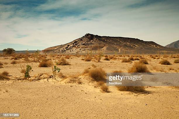 Distant mountain in Libyan Sahara desert