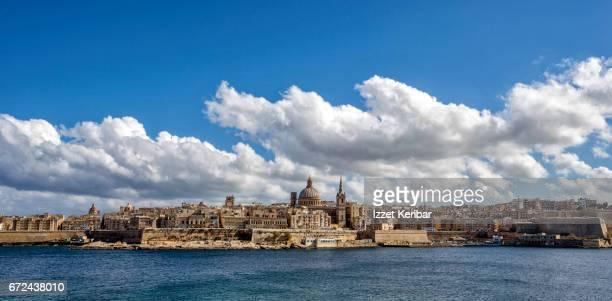 Distant photo of Valletta, taken from Sliema, Malta