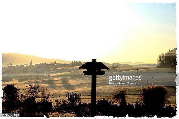 Distant Town In Rural Landscape