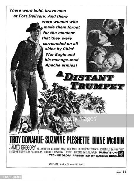 A Distant Trumpet poster Troy donahue right top from left Suzanne Pleshette Troy Donahue right bottom from left Troy Donahue Diane McBain 1964