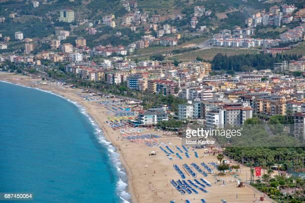 Distant view of Alanya town, Antalya, Turkey