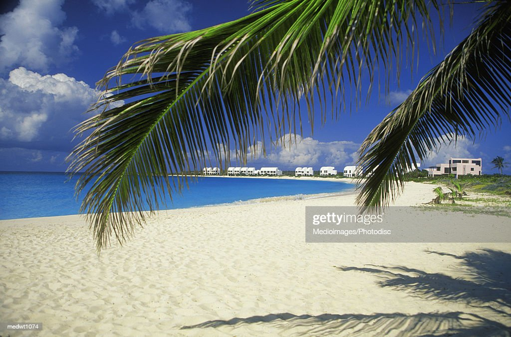Distant View Of Cove Castles Beach Resort On West Shoal Bay Anguilla Stock Photo