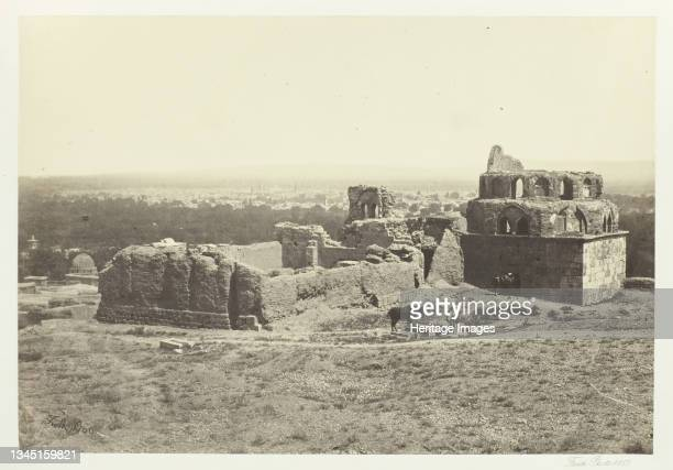 """Distant View of Damascus, 1857. Albumen print, pl. 6 from the album """"Egypt and Palestine, volume ii"""" . Artist Francis Frith."""