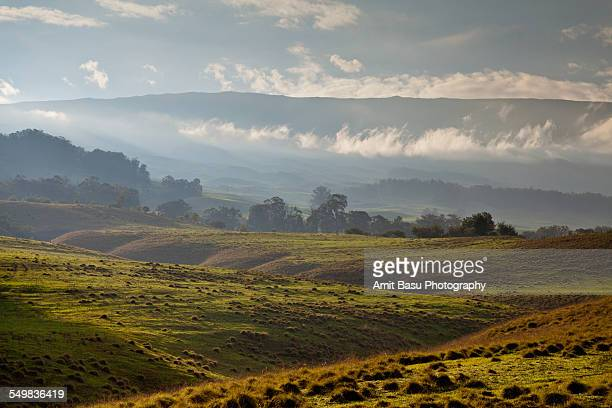 distant view of mount haleakala, maui - amit basu stock pictures, royalty-free photos & images