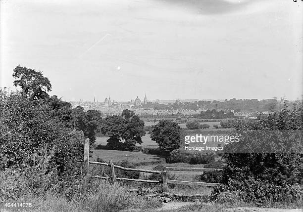 Distant view of Oxford Oxfordshire form Hinskey Hill clearly showing the Radcliffe Camera and other university buildingsc1860c1922