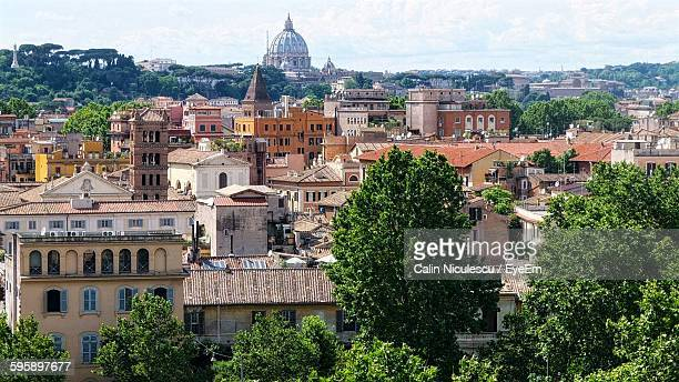 Distant View Of St Peter Basilica Against Sky In City