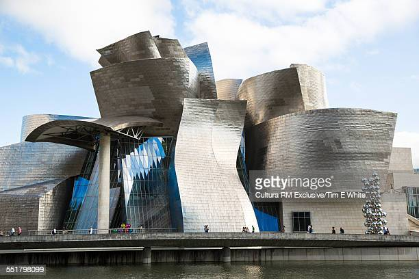 Distant view of the Guggenheim museum, Bilbao, Spain