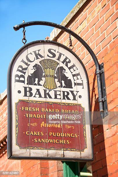 Distillery district Brick Street Bakery vintage metal sign The location is a heritage site and major tourist landmark