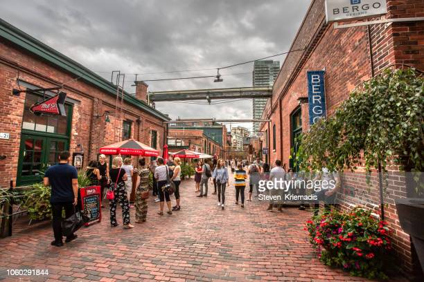 distillery district - toronto, ontario - county stock pictures, royalty-free photos & images