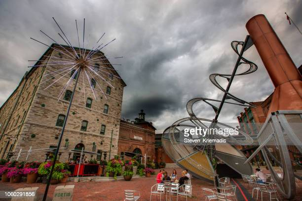 distillery district - toronto, ontario - historic district stock pictures, royalty-free photos & images