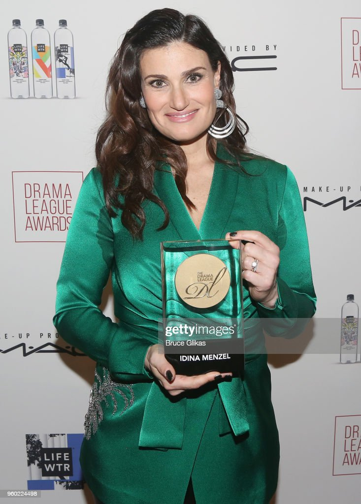 Distinguished Achievement in Musical Theater Award winner Idina Menzel poses at The 2018 Drama League Awards at The Marriott Marquis Times Square on May 18, 2018 in New York City.