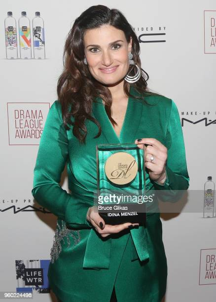 Distinguished Achievement in Musical Theater Award winner Idina Menzel poses at The 2018 Drama League Awards at The Marriott Marquis Times Square on...