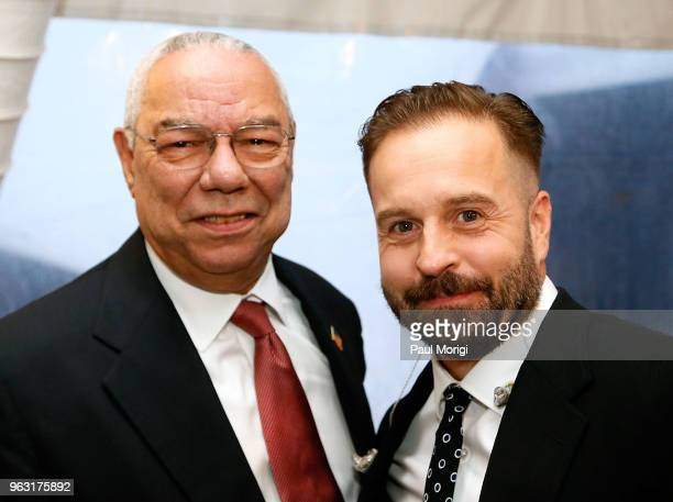 Distinguished American leader General Colin L Powell USA and Tenor Alfie Boe attend the 2018 National Memorial Day Concert at US Capitol West Lawn on...