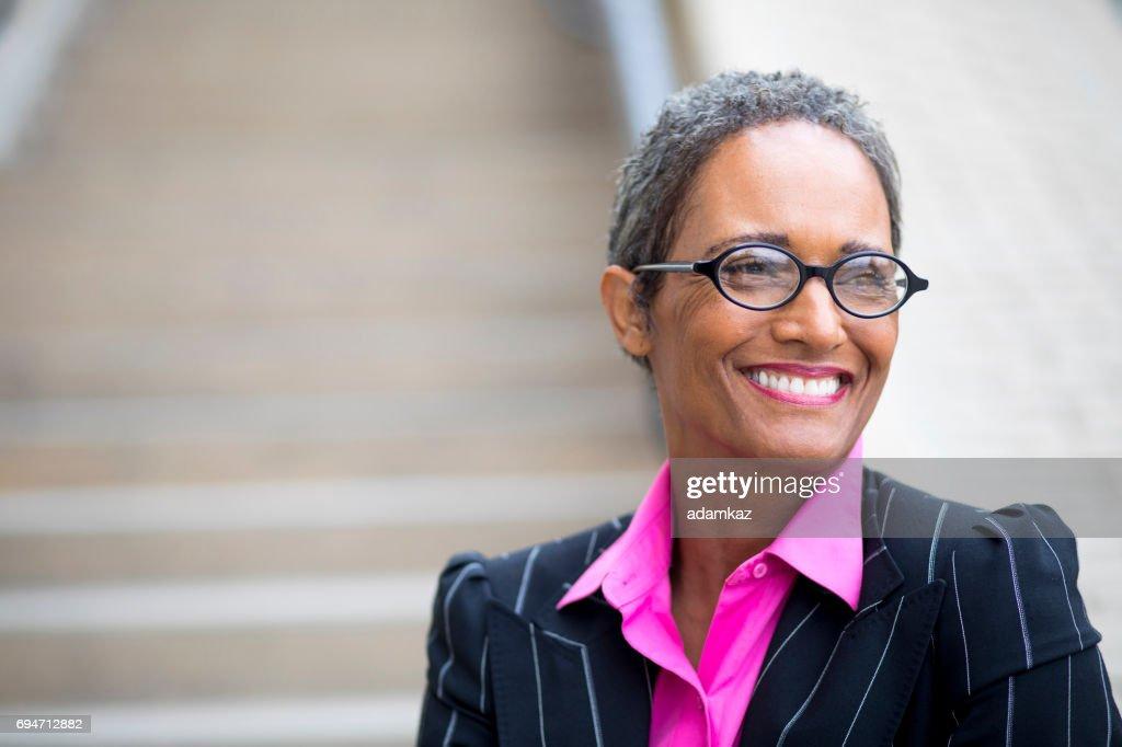 Distinguished Senior African American Businesswoman : Stock Photo