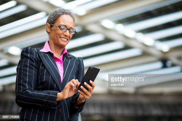 Distinguished Senior African American Businesswoman
