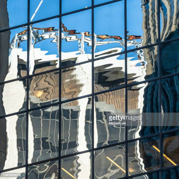 Distorted Reflection on New York Building Facade