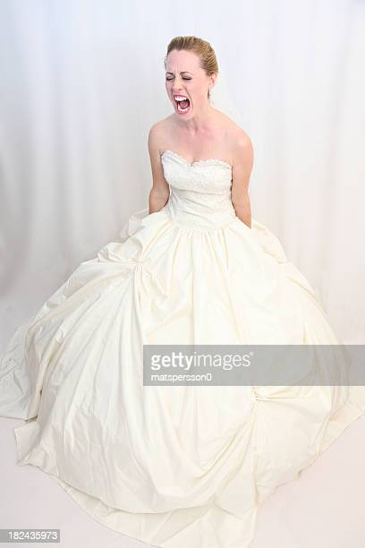 Distraught bride shouting