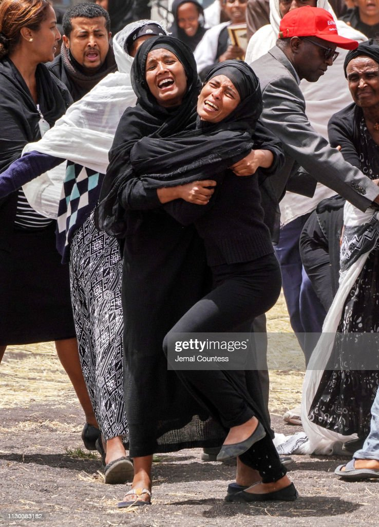 Mourners Visit The Crash Site Of Ethiopian Airlines Flight ET302 : News Photo