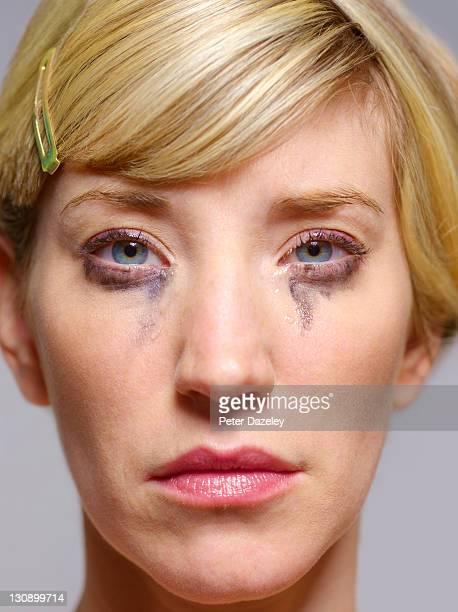 Distraught girl crying