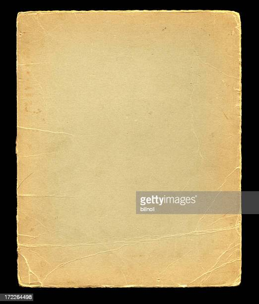 distressed cardstock on black background texture - bent stock pictures, royalty-free photos & images