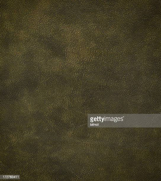 distressed green leather
