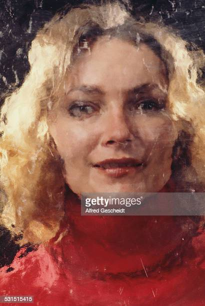 A distressed image of a blonde woman circa 1980