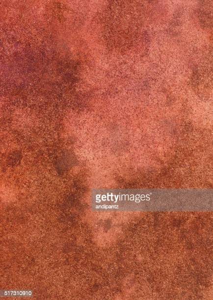 Distressed mottled texture hand painted with shades of orange rust