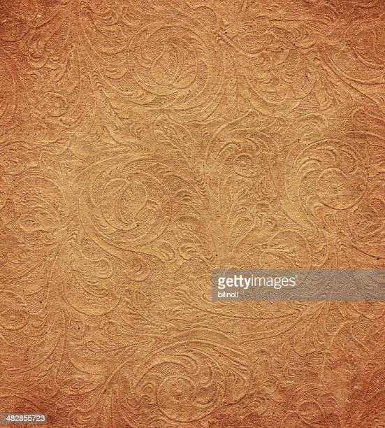 distressed paper with floral pattern