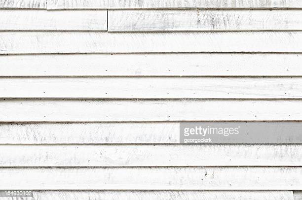 Distressed White Wooden Wall