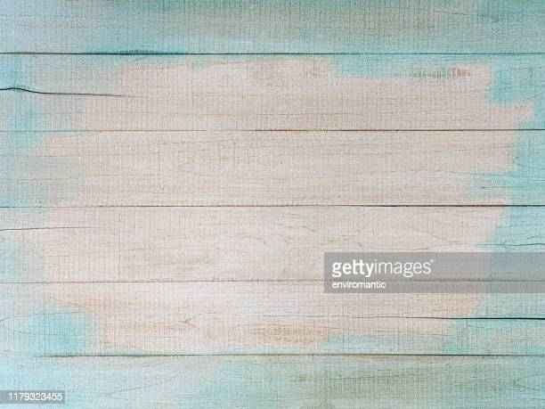 distressed, worn, weathered, old, blue and white, wooden panel abstract background. - white wood stock pictures, royalty-free photos & images