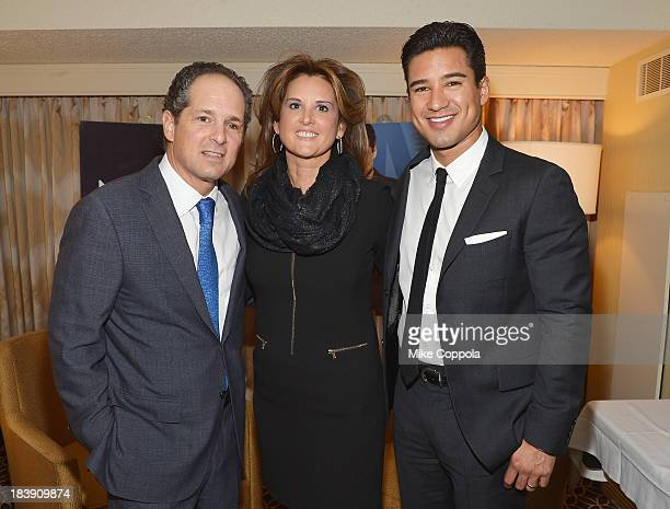 SVP Distribution and Affiliate Marketing at nuvoTV Judi Lopez Mario Lopez and CEO at nuvoTV Michael Schwimmer attend the Walter Kaitz Dinner 30th...