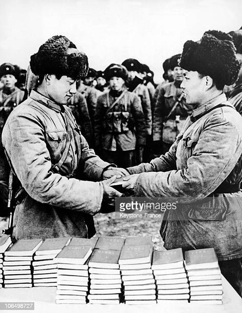 Distribution By The Army Of Little Red Book In China 1966