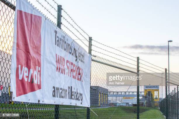 A distribution centre belonging to US online retailer Amazon operates with a reduced workforce on November 24 2017 in Rheinberg Germany Workers...